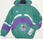 Vintage 90s CHARLOTTE HORNETS Apex One JACKET PULLOVER BackPatch NWT NEW Old Stk