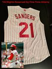 NEW Authentic Deion Sanders Cincinnati Reds Mens Throwback Vest Jersey Braves