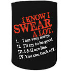 Stubby Holder - I Swear Alot - Funny Novelty Christmas Gift Joke Beer Can Bottle