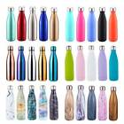 500ML Water Bottle Vacuum Insulated Flask Thermal Sport Chilly Cold Cups UK 2018