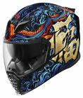 Icon Airflite Good Fortune Blue/Gold Motorcycle Helmet