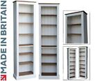White, Cream or Grey Painted Bookcase, 7ft x 2ft Adjustable Tall Bookshelves