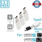1x,3x,5x Micro USB to Type C Male Cable Adapter For GoPro Hero 5 6,Samsung,LG
