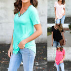 US Womens Pullover Tops Blouse Ladies V-Neck Long Sleeve Casual T-Shirt Tee BD