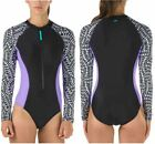 speedo on sale - SALE -Speedo Ladies' Long Sleeve One-Piece Swimsuit, Black or Geometric, Sz 4-14