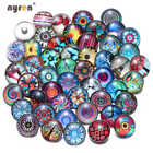 20pcs/lot Mixed Pattern Glass Charms 18mm Ginger Snap Button For Snaps Jewelry