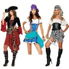 medieval serving wench sea captain, black and white pirate costume fancy dress