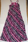 MULTI-COLOURED CHEROKEE MAXI DRESS WITH PARTIAL ZIP SIDE SIZES 10 & 12 BNWT