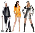 Ladies and Men Inmate Robber convict escaped prisoner jumpsuit halloween outfits