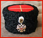 WWI Red Top Papakha Imperial Russia Hat karakul 1881-1907 COPY WITHOUT PIN