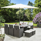 Rattan Cube Garden Furniture Patio Set