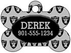 Oakland Raiders Custom Pet Id Dog Tag Personalized w/ Name & Number $9.87 USD on eBay