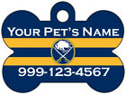 Buffalo Sabres Custom Pet Id Dog Tag Personalized w/ Name & Number $9.87 USD on eBay