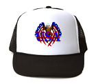 Trucker Hat Cap Foam Mesh Patriotic USA Flag Eagle Land Of The Free