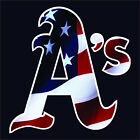"6"" 10"" 12"" 18"" 24"" Oakland A's Logo American Flag Car Truck Window Decal Sticker"