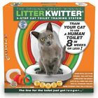 Cat Litter Kwitter Set Human Toilet Seat Training Kitten Quit Kit Loo System DVD