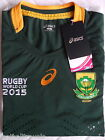 S M L XL SOUTH AFRICA RUGBY WORLD CUP 2015 TEST JERSEY ASICS Shirt HOME NEW TAGS