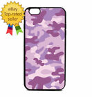 Purple Army Camouflage Print Phone Case Galaxy S Note Edge iPhone 5 6 7 8 9 X +
