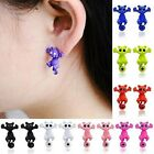 "Pair of CAT 2-piece Stud Earrings - Choose Color - About 7/8"" long"