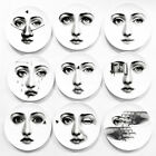 """8"""" Dish Art Nouveau Wall Plate Home Decoration Fornasetti Style Milan Pattern"""