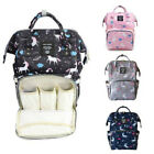 LEQUEEN Mummy Maternity Nappy Diaper Bag Large Capacity Baby Unicorn Backpack