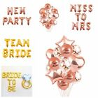 Team Bride To Be Balloons Confetti Foil Latex Hen Party Engaged Wedding Decor