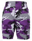 MENS ROTHCO 7100 PURPLE CAMO BDU SHORTS CARGO ULTRA VIOLET CAMO SIZES XS TO 2X