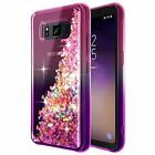Samsung Galaxy S8 Active Case With Tempered Glass Glitter Diamond Pink/ Purple