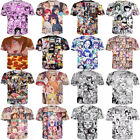 Women/Men Ahegao Anime Funny Girl Sexy 3D Print Casual T-Shirt Tee Short Sleeve