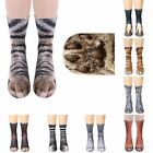 Adults Kids 3D Horse Animal Feet Paw Pattern Novelty Sublimated Crew Long Socks