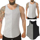Men Gym Muscle Sleeveless Shirt Tank Top Sport Bodybuilding Sport Fitness Vests