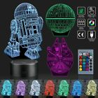 3D Illusion Lamp Star Wars Night Lights -R2-D2 + Death Star + Millennium Falcon $2.68 USD on eBay