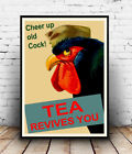 Tea Revives you: Vintage advertising , poster, Wall art, poster, reproduction.