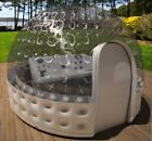 Inflatable Hot Tub Spa Solar Dome Cover Tent Structure W/ Pump & Anchors