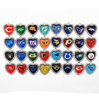 NFL Football Sports Team, heart shaped charm. Free team charm when you buy 3 $2.75 USD on eBay