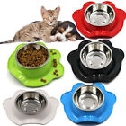 Pet Food Bowl Spill Resistant Stainless Steel Cat Dog Bowl Pet Feeding Bowl