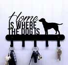 Home Is Where The Dog Is Key Holder / Rack for Wall Mount