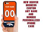PERSONALIZED CUSTOM DENVER BRONCOS CASE FOR IPHONE XS MAX XR 4 5 5C 6 7 8 PLUS $13.88 USD on eBay