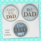Perfect Gift for Dad - Ceramic Coaster- Worlds Best Dad/ No 1 Dad/ Best Ever Dad