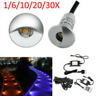 0,8w 26mm RGB LED Deck Step Lights Half Moon Outdoor Garden Stairs Lamp Home UK