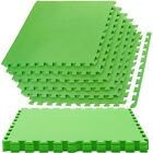 Large Interlocking EVA Soft Foam Exercise Floor Mats Gym Garage Office Mat GREEN