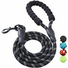 5 FT Dog Leash Comfortable Padded Handle Reflective Heavy Duty Rope Leashes