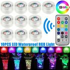 Flameless LED Tea Lights Candles Submersible Remote Control Multi Color Battery
