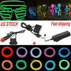 1m-5m Colorful Neon Glow El Wire Led String Strip Rope Light Tube Party Decor