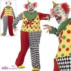 Mens Sinister Clown Costume Adult Halloween Horror Circus Scary Fancy Dress