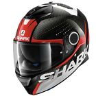 Shark Spartan Carbon Cliff DRW Grey Red White Sports With Rear Lightweight