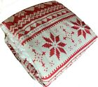 Super Soft Nordic Fleece Sherpa Throw Blanket 130 x 160cm for Chair Bed Sofa