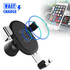Fast Wireless Charger 360° Car Air Vent Phone Holder Gravity Stand for iPhone X