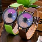 Fashion Women's Colorful Leather Band Casual Watches Analog Quartz Wrist Watch image