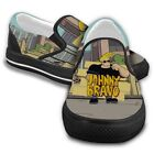 JOHNNY BRAVO Like Elvis Funny Cartoon Shoes Casual Slip On